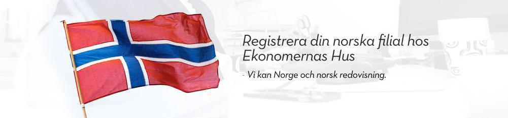 Registrera din norska filial hos Ekonomernas Hus